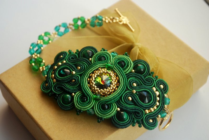 Bransoleta sutasz-beading Emerald Night