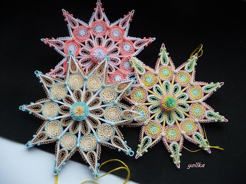 Quilling,ozdoby choinkowe