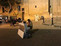 a street artist of valletta